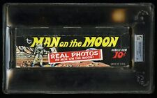1969 Topps Man On The Moon Empty 10 Cent Display Box GAI 8 NM-MT