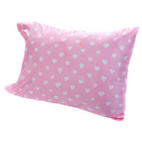 Love Pink White Hearts 4 Piece Full Size Sheet Set Flat Fitted 2 Pillowcases New