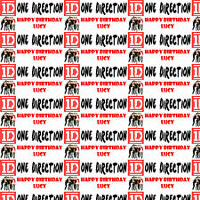 Personalised Gift Wrapping Paper One Direction All Members Birthday Any Name!