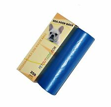 1000 Dog Pet Waste Poop Bags 4 Rolls Strong .75 mil 19 microns blue Petoutside
