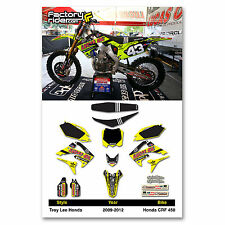 2009-2012 HONDA CRF 450 Dirt Bike TLD Neon Graphics kit Motocross Graphics Decal