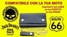 Portafoglio bikers personalizzato Jack Daniels Wallet Leather geldbörse Guzzi