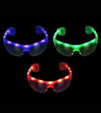 NEW! LED Flashing Light Up Sports and Raver Sunglasses with LED Lights!