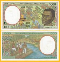 Central African States 1000 Francs Chad (P) p-602Pg 2000 UNC