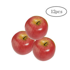 12pcs Artificial Apples Decorative Large Simulated Apple Plastic Fruits Red 8cm