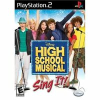 High School Musical: Sing It PS2 Disney Music For PlayStation 2 Very Good 4E