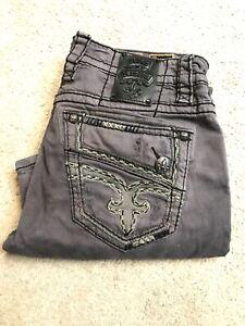 Mens Rock Revival Jeans Destin 33 Rare Color