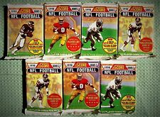 7   PACKS Score Football CARDS 1990 Old Unopened LOT Montana Elway Rice Bo ? ??
