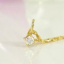 Anhänger und Kette 585 und 333 Gelbgold 1 Diamanten 0,08ct Wesselton si 39 cm
