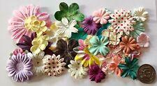 NO 145 Scrapbooking - 16 Mixed Prima Paper Flowers - Scrapbook