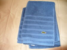 "Lacoste Crocodile Solid Bath Towel blue 30"" x 54"" NEW"