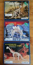 IQ ASSEMBLING Stegosaurus, Parasurolophus, Brachiosaurus - Lot of 3 Wood Puzzles