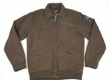Quicksilver Brown Jacket Coat Quilted Insulation Embroidered Men's Size Large