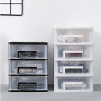Transparent Storage Box Drawer Type Plastic Cosmetics Container for Office Home