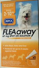 RSPCA FLEAaway 67mg Spot On Solution for Dogs - Pack of 3 Flea & Tick treatment