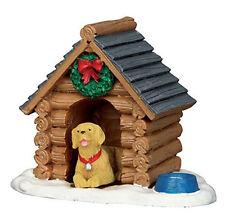 Lemax décoration log cabin dog house, new noël décoration gâteau kennel figure