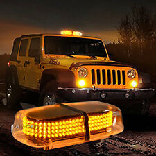 NEWEST Car SUV 240 LED Magnetic Amber Yellow Truck Strobe Flash Light Warning