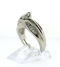 Stunnig Ladies 14K White Gold Marquise Diamond Engagement Ring 1.14ctw