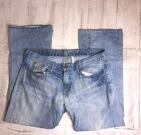 Mens Guess Falcon Slim Boot Jeans Button 38x31