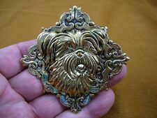 (B-DOG-405) Yorkshire terrier I love yorkie dogs  brass Pin Pendant Westie DOG