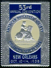 1938 American Philatelic Society Convention Label Cinderella MNH