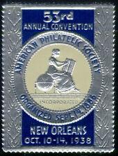 1938 American Philatelic Society Convention Label Cinderella Poster Stamp MNH