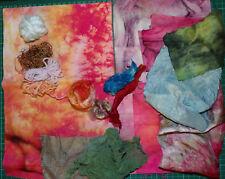 Hand Dyed Fabric & Fibre Creative Textile Art Craft Bundle Mixed Media Embellish