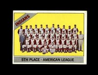 1966 Topps Baseball #303 Cleveland Indians team EXMT