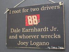 Dale Earnhardt Jr wrecks Joey Logano Rare Driver Sign Racing Bar Man Cave