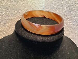 beautiful agate bangle bracelet (Kate Spade?) w/14k maker's mark tag EUC