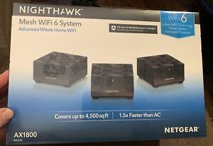 Netgear MK63S-100NAS Nighthawk Mesh Wifi 6 System NEW in Box