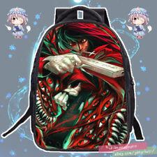 Anime Hellsing Alucard Cosplay Schoolbag Backpack Birthday Shoulders Bag #UL50