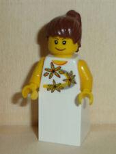 Nr.3178 Lego twn065 Minifig Frau mit weißem Rock und Blumenshirt aus 10184/2008