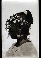 COIFFURE ETHNIQUE (HAUTE-VOLTA) PORTAIT FEMME TOUCOULEURS avec bijoux en 1937