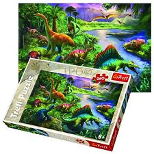 Trefl 260 Piece Kids Boys Big Dinosaurs Outdoor Old Fun Jigsaw Puzzle NEW