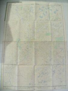 Map of Kuala Lumpur Malaya 1957 Cloth base fold able by Survey and War Dept