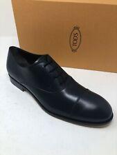 $600 New Tods Mens Blue Shoes Cap Toes Size 10 US 9 UK 43 EU