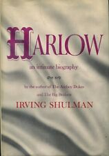 HARLOW: An Intimate Biography, by Irving Shulman 1964 Hardcover Jean Harlow Bio