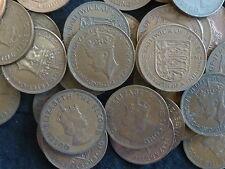 Jersey Lote a granel de 40 peniques decimal circulado pre - (1/12 chelín) 1937 - 1966
