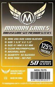 50 Premium Mini USA Card Sleeves (41 MM X 63 MM) MDG7075