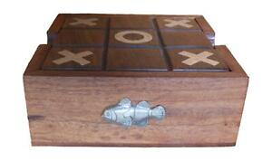 Clown Fish Wooden Tic Tac Toe Solitaire Game FREE ENGRAVING 471