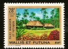 1990 WALLIS & FUTUNA FALES WALLISIEN NATIVE HUTS NEUFS **MINT NEVER HINGED STAMP