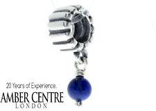 Pandora Silver LAPIS Lazuli Dangle BIRTHSTONE Charm - 790166L  RRP£35!!!