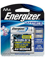Energizer Ultimate Lithium AA Batteries (1 x 4-Pack) L91BP-4 Fresh Date