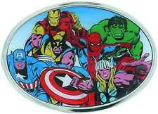 MARVEL HEROES COLLAGE BELT BUCKLE ROUND NEW WITH TAG HULK- IRON MAN #sjul16-308
