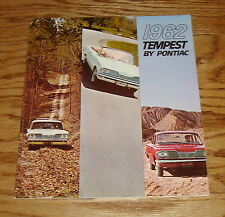 Original 1962 Pontiac Tempest Sales Brochure 62 LeMans