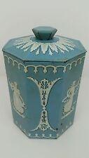 Vtg Murray Allen Regal Crown Exclusive Confections Blue & White Athenian Tin