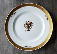 Vintage Royal Copenhagen Golden Basket Gilt-Rimmed Dinner Plate