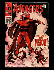Avengers #57 FN+ Buscema 1st Vision Black Widow Black Panther Death of Ultron-5