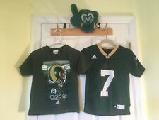 Adidas Boys Small (8) Colorado State Rams Football Jersey #7 T-shirt Plush #1